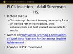 plc s in action adali stevenson hs