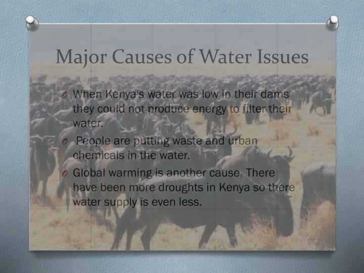 Major causes of water issues