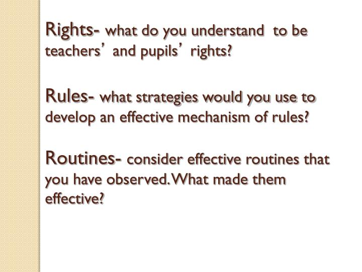 Rights-