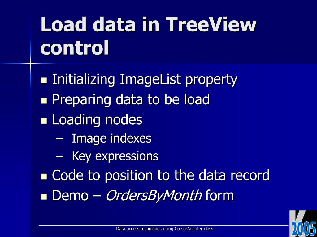 PPT - Using TreeView ActiveX Control in VFP PowerPoint Presentation