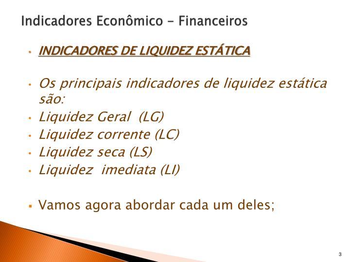 Indicadores econ mico financeiros1