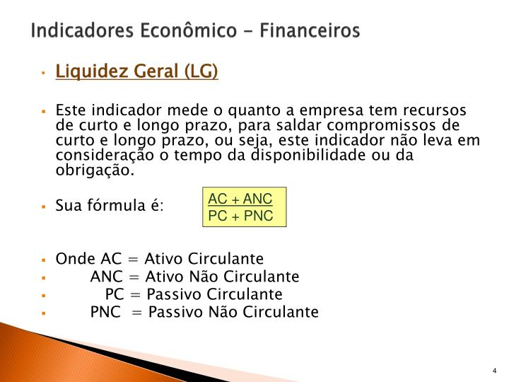 Indicadores Econômico - Financeiros
