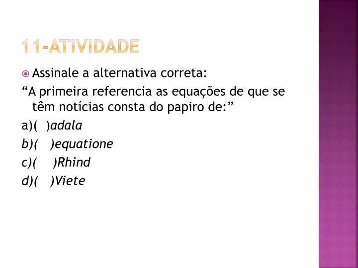 11-Atividade
