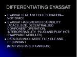 differentiating eyassat
