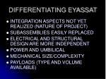 differentiating eyassat1