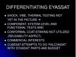 differentiating eyassat2
