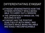 differentiating eyassat3