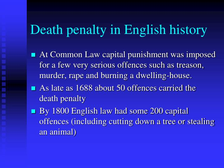 Death penalty in English history