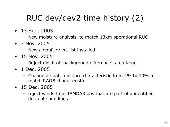 RUC dev/dev2 time history (2)