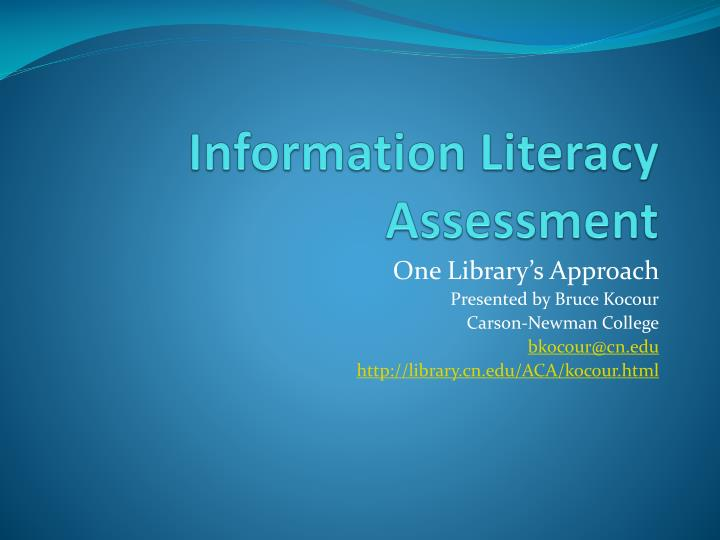 information literacy assessment n.