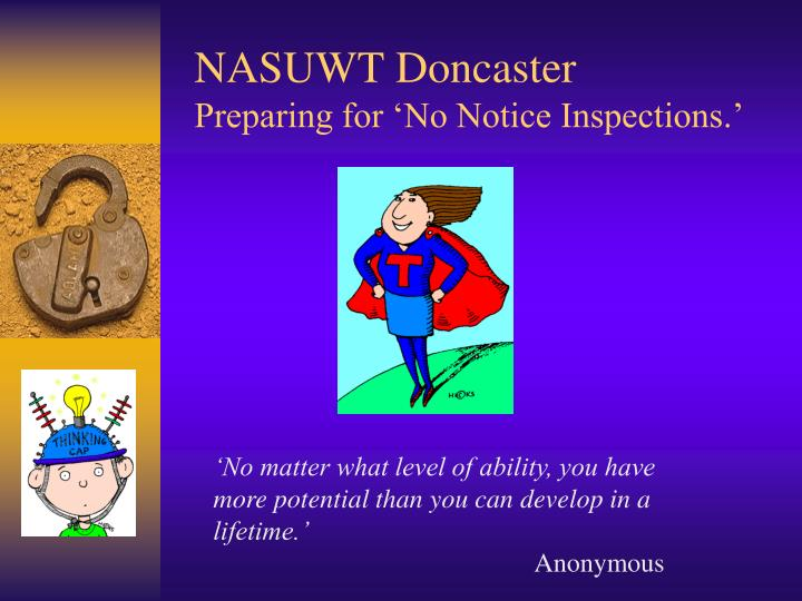 nasuwt doncaster preparing for no notice inspections n.