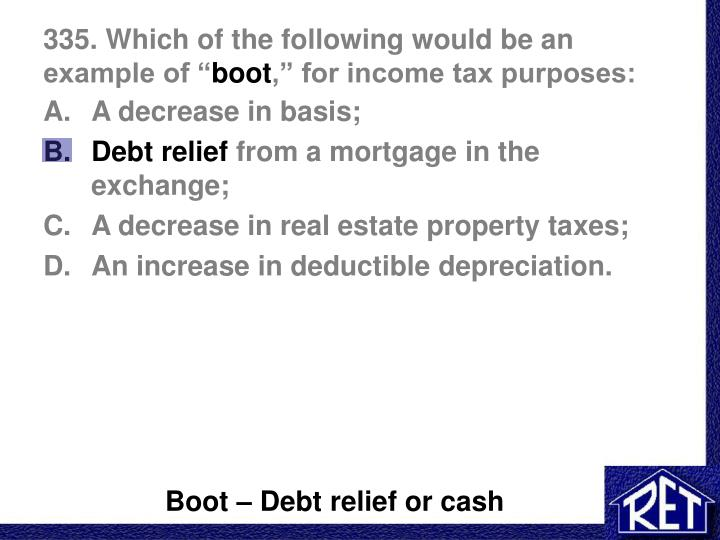 1031 Real Estate Tax Basis Example