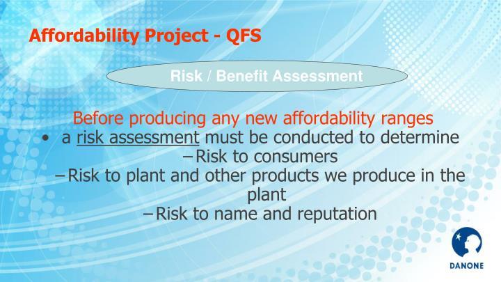 Affordability Project - QFS