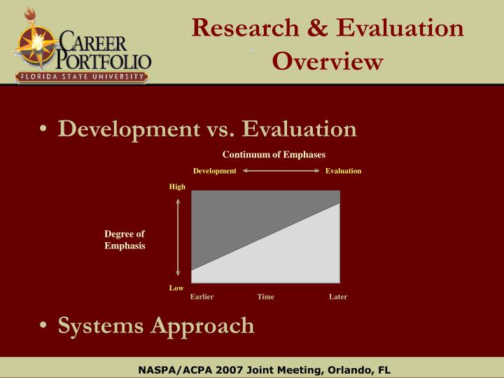 Research & Evaluation Overview