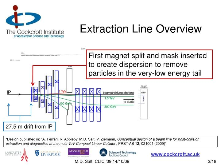 Extraction line overview1