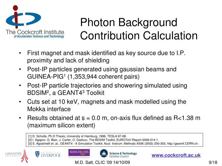 Photon Background Contribution Calculation