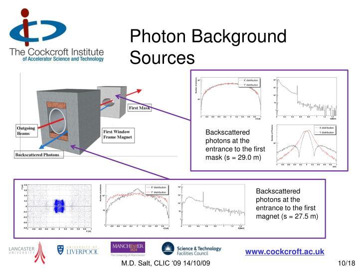 Photon Background Sources