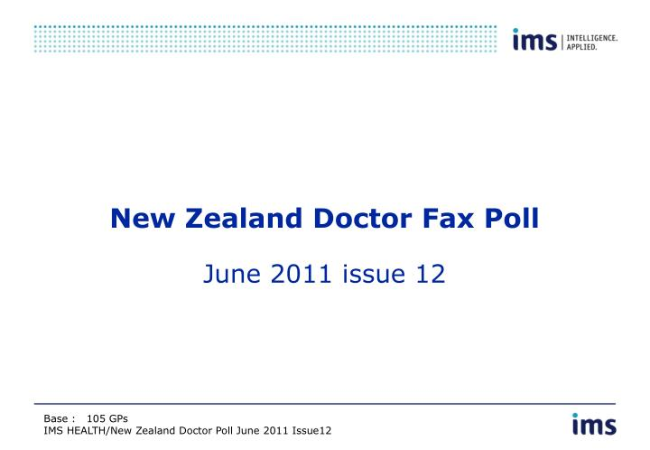 new zealand doctor fax poll n.