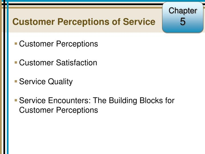 Customer perceptions of service
