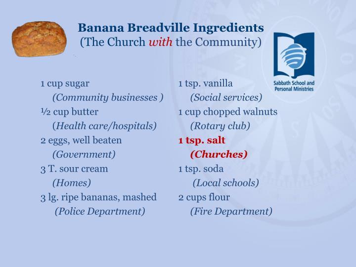 Banana Breadville Ingredients