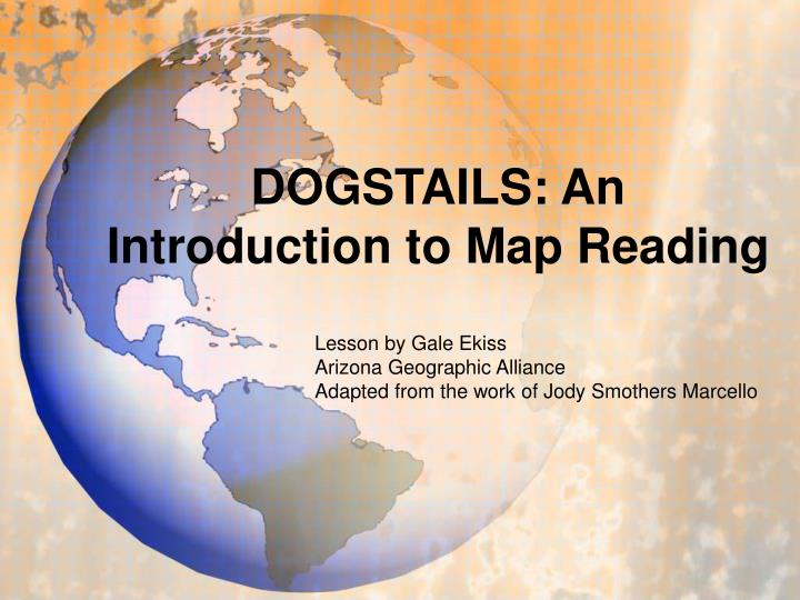 dogstails an introduction to map reading n.
