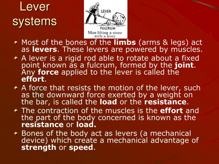 Lever systems
