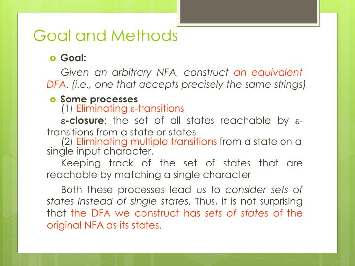 Goal and Methods