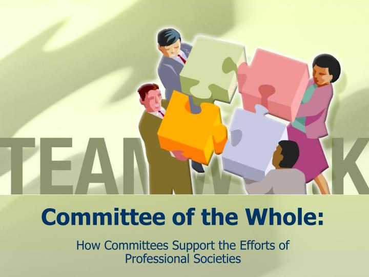 committee of the whole n.