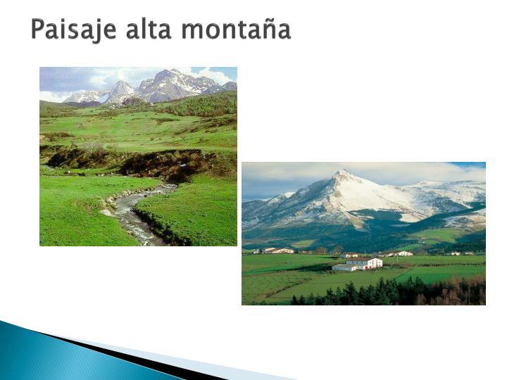 Paisaje alta montaña