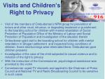 visits and children s right to privacy