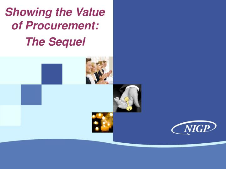 showing the value of procurement the sequel n.