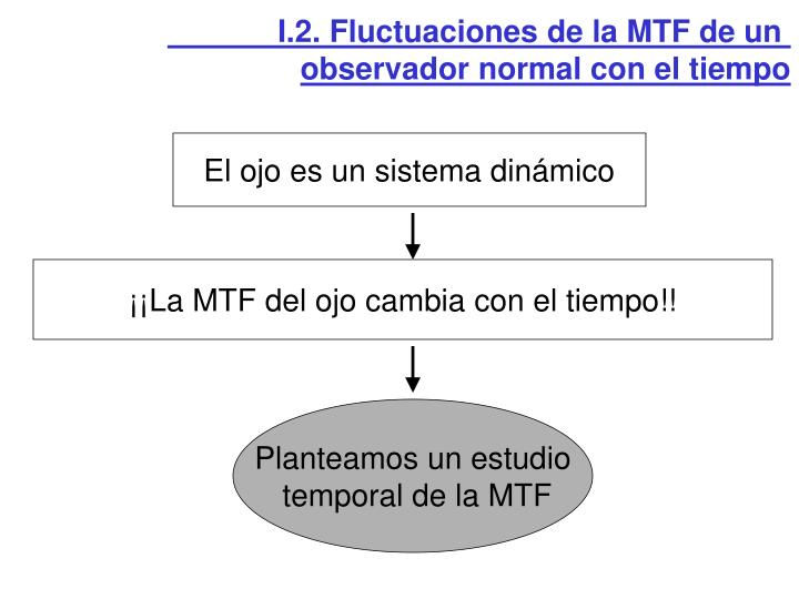 I.2. Fluctuaciones de la MTF de un