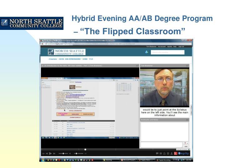 Hybrid Evening AA/AB Degree Program