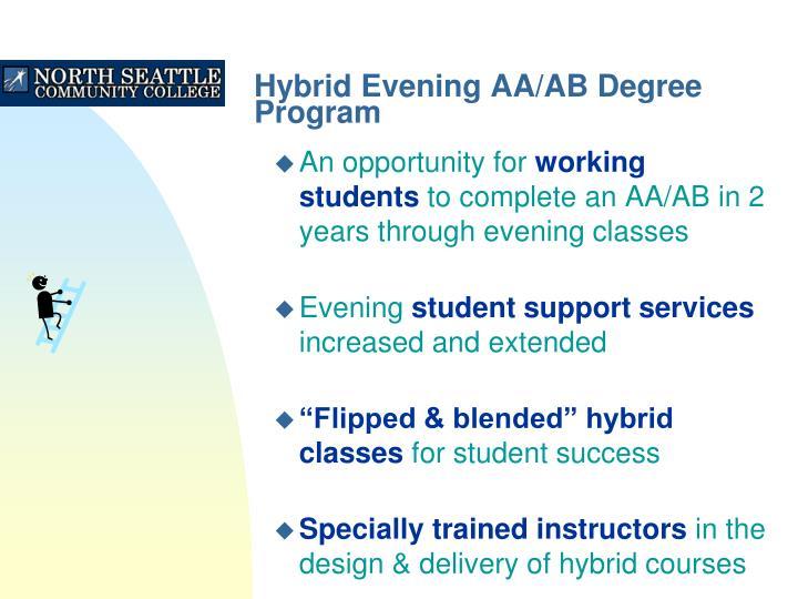 Hybrid evening aa ab degree program2