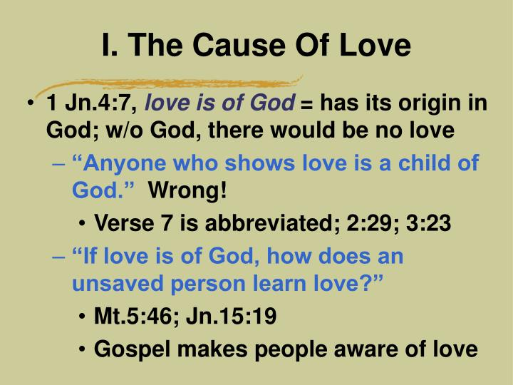 i the cause of love n.