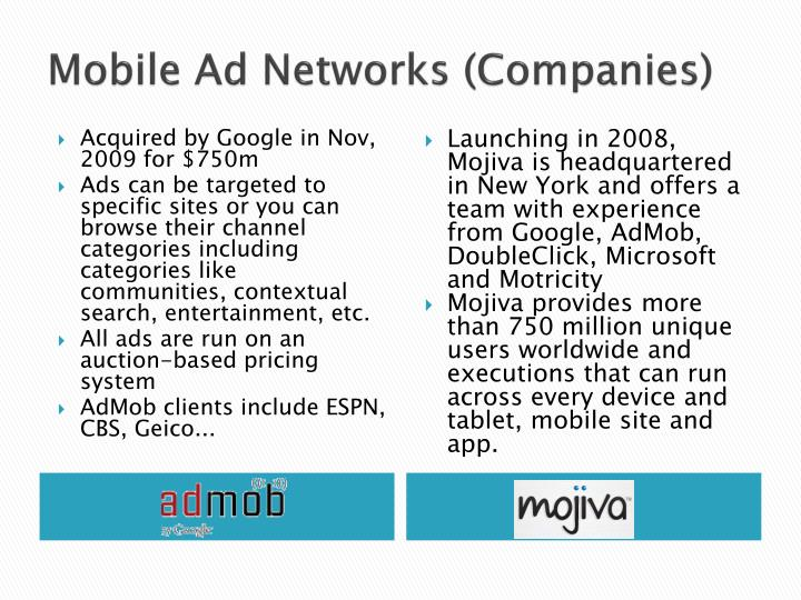 Mobile Ad Networks (Companies)