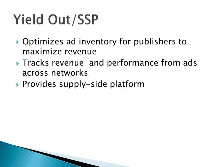 Yield Out/SSP
