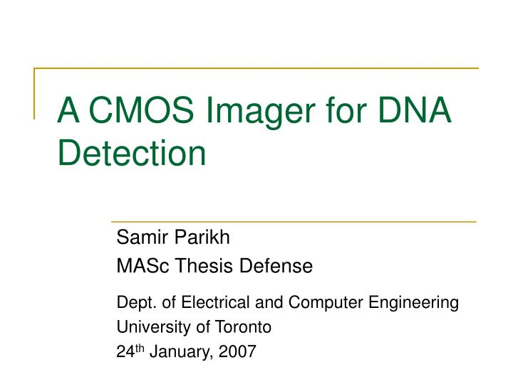 a cmos imager for dna detection n.
