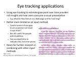 eye tracking applications