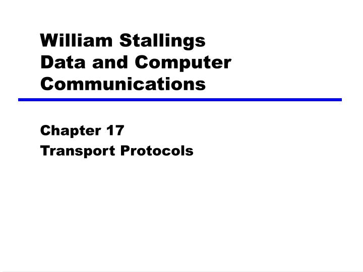 william stallings data and computer communications n.