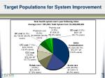 target populations for system improvement12