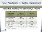 target populations for system improvement9