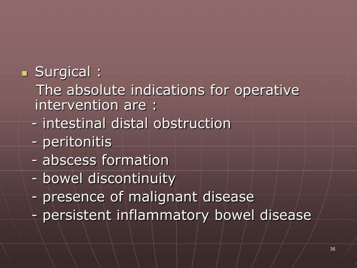Surgical :