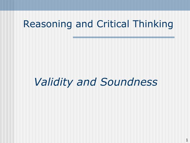 reasoning and critical thinking n.