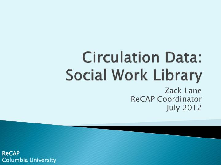 circulation data social work library n.