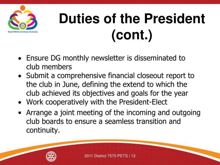 Presidents duties   Custom paper Academic Service urpaperkgng