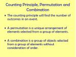 counting principle permutation and combination