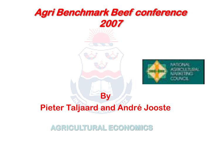 agri benchmark beef conference 2007