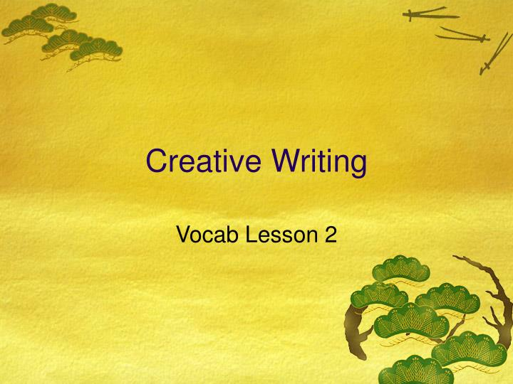 creative writing n.