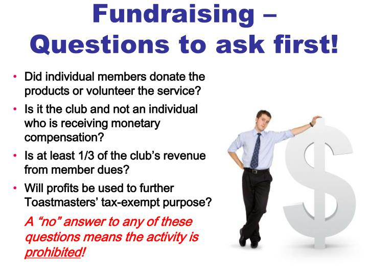 Fundraising –